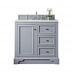 """James Martin De Soto Collection 36"""" Single Vanity, Silver Gray"""
