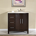 Accord Contemporary 36 inch Bathroom Vanity Cream Marfil Top