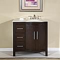 Accord Contemporary 36 inch Bathroom Vanity Cream Marfil Top