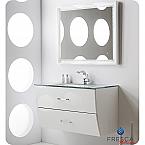 40 inch Glossy White Modern Bathroom Vanity Wall Mounted