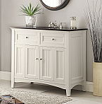 42 inch Adelina Antique White Sink Bathroom Vanity