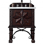 "James Martin Balmoral Collection 26"" Single Vanity Cabinet, Antique Walnut"
