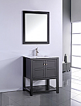 30 inch Contemporary Espresso Finish Bathroom Vanity Cabinet
