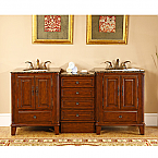 Accord Antique 76 inch Bathroom Vanity Antiqued Cherry Finish