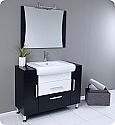 44 inch Modern Bathroom Vanity Dark Wood Finish