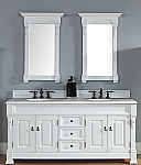 Abstron 72 inch Cottage White Double Bathroom Vanity Optional Countertops