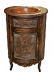 "25"" Antique Peruvian Copper Bathroom Vanity"