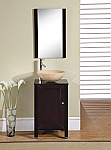 Accord Contemporary 19 inch Single Vessel Sink Bathroom Vanity