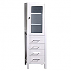 Contemporary Linen Four Drawer Cabinet White Finish