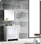 "Allier 30"" Modern Bathroom Vanity Glossy White Finish"