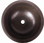 Copper Round Plain 15 inch Sink Chocolate Finish