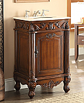 21 inch Adelina Antique Brown Finish Bathroom Vanity