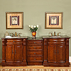 Accord Antique 85 inch Bathroom Vanity Baltic Granite Top