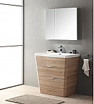 32 inch Modern Bathroom Vanity White Oak Finish