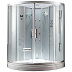 Ariel Platinum DZ938F8 Walk-In Steam Shower