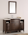 48 inch Antique Coffee Finish Traditional Bathroom Vanity with Mirror