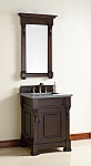 "James Martin Brookfield Collection 26"" Single Vanity, Burnished Mahogany"