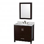 36 inch Transitional Espresso Finish Bathroom Vanity