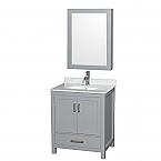 Accmilan 30 inch Transitional Grey Finish Bathroom Vanity Set