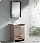 "Fresca Allier 24"" Bathroom Vanity Grey Oak Finish"