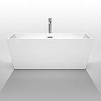 Sara 63 inch Acrylic White Soaking Bathtub