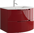 Anity 29 inch Modern Floating Bathroom Vanity Red Glossy Finish