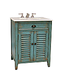 26 inch Adelina Cottage White Sink Bathroom Vanity