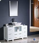 "48"" White Modern Bathroom Vanity"