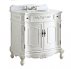 36 inch Adelina Antique White Bathroom Sink Vanity
