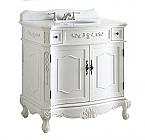 Adelina 36 inch Antique White Bathroom Sink Vanity