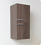28 inch Gray Oak Bathroom Linen Side Cabinet