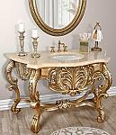 """60"""" Platine Carved Marble Top Vanity Sink"""