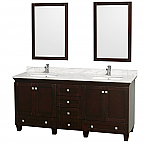 "Accmilan 72"" Espresso Double Bathroom Vanity Set"