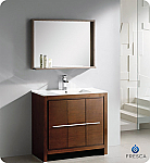"Fresca Allier 36"" Modern Bathroom Vanity Wenge Finish"