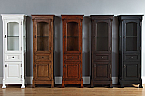65 inch Tall Floor-Standing Linen Cabinet Traditional Styling