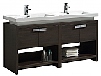 "Modern Lux 63"" Gray Oak Modern Bathroom Vanity w/ Cubby Hole"