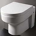 EAGO Round Elongated Wall Mount Dual Flush Bathroom Toilet