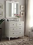 34 inch Adelina Vintage Bathroom Vanity Antique White Finish