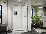 "Fleurco Banyo Amalfi 40"" Arc4 Semi-Frameless Curved Glass Shower Door"