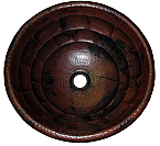 Copper Round Tortoise 15 inch Sink Chocolate Finish