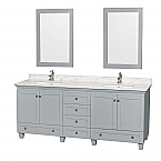 "Acclaim 80"" Double Bathroom Vanity in Oyster Gray with Countertop, Undermount Sinks, and Mirror Options"