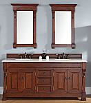 "James Martin Brookfield Collection 72"" Double Vanity, Warm Cherry"