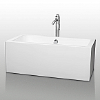 Melody 60 inch White Soaking Bathtub Acrylic Construction