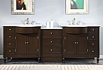 Accord Contemporary 95 inch Modular Bathroom Vanity Espresso Finish