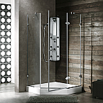 "Vigo 38"" x 38"" Neo-Angle Shower Enclosure"