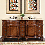 Silkroad Antique Double Sink Vanity HYP-0722-72-T