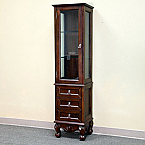 Bellaterra Home Linen Wood Cabinet Medium Walnut