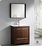 "Fresca Allier 30"" Modern Bathroom Vanity Wenge Finish"