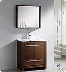 "Fresca Allier 30"" Modern Bathroom Vanity Wenge Finish"