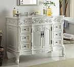 48 inch Adelina Traditional Style Antique White Bathroom Vanity